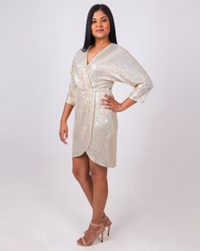Aurelie Gold Cocktail Dress
