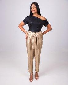 Aurelie Evening Pants Gold