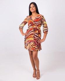 Aurelie Mini Wrap Dress Patterned