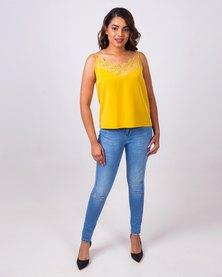 Aurelie Tencel Vest Yellow