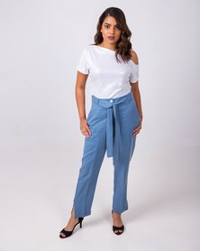 Aurelie Casual Tailored Trousers Blue