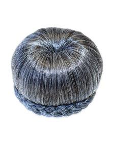 Blkt Donut Hair Bun Clip-in Synthetic Grey For Women