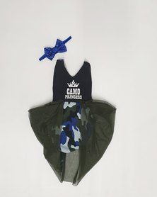 Anjo Couture Camouflage Romper - Blue