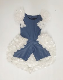 Anjo Couture Leather Play Suit Blue