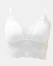 SKA Long Bottom Full Lace Bras White