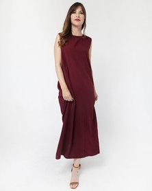 Mamoosh maxi dress maroon