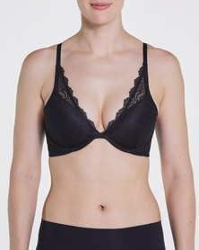 Spanx Push-Up Plunge Bra Very Black