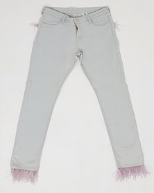 Anjo Couture Feather Jean - Pink