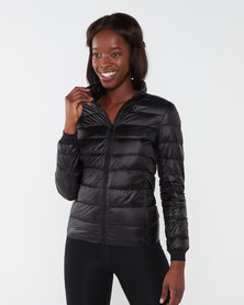 Swagg Light Weight Down Ladies Puffer Jacket - Black