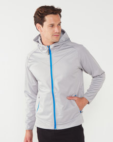 Swagg S-tech Mens Hooded Softshell Jacket Platinum