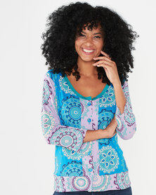 Maya Prass Feel the Sun Cardigan Turquoise