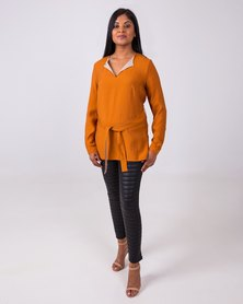 Aurelie Silken Touch Tunic Burnt Orange