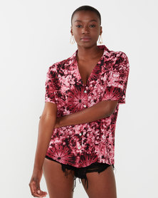 Talooshka Ladies Beach Shirt Maroon