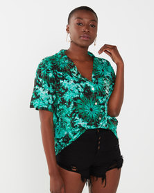 Talooshka Ladies Beach Shirt Green