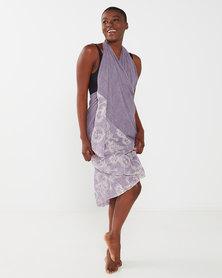 UB Creative Cotton Embroidered Sarong Purple