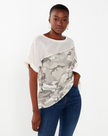 UB Creative Camo Sequin Top Pink