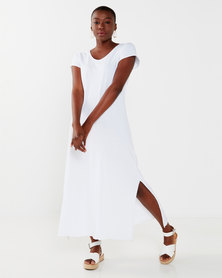 UB Creative Cotton Long Dress White