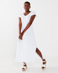 UB Creative Cotton Long Dress White