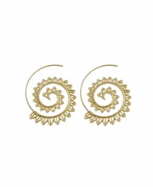 We Heart This Large Gold Geometric Swirl Earrings