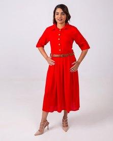 Aurelie Soft Easy Wear Dress Red