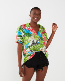 Talooshka Ladies Beach Shirt Floral