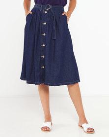 Button Flare Skirt
