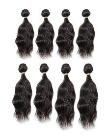 Blkt 8Pcs Brazilian Human Blend Hair Natural Wave Bundles Package (Color code 2)