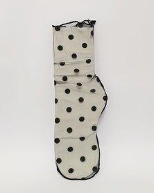 Anjo Couture Black Mesh Sock Dot