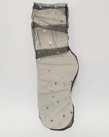 Anjo Couture Mesh Sock Moon & Stars Mesh