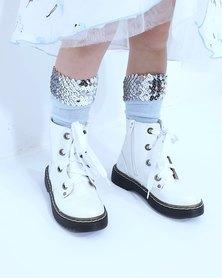 Anjo Couture Sequin Cuff Sock
