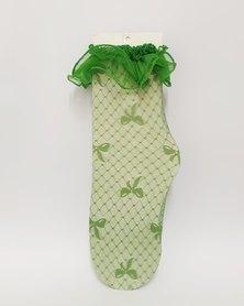 Anjo Couture Mesh Sock Ruffle Top
