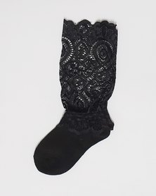 Anjo Couture Baby Lace Knee High Sock Set