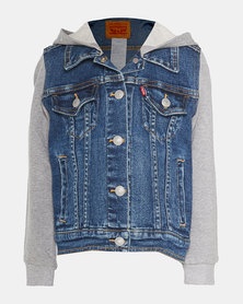 Little Boys (4-7X) Hooded Trucker Jacket