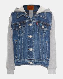 Little Boys (4-7X) Hooded Trucker Jacket