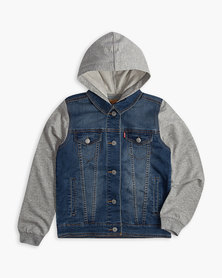 Big Boys (S-XL) Hooded Trucker Jacket