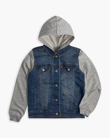 Big Boys (S-XL) Hooded Trucker Jacket