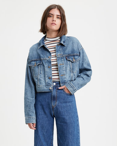 Cropped Dad Trucker Jacket
