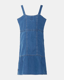 Big Girls (S-XL) Denim Babydoll Dress