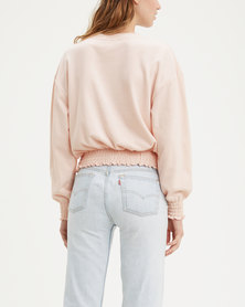 Paloma Smocked Crewneck Sweatshirt