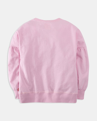 Big Girls (S-XL) Balloon Sleeve Crewneck Sweatshirt