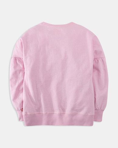Big Girls (S-XL) Balloon Sleeve Crewneck Sweatshirt