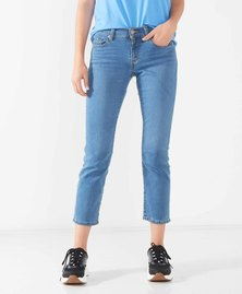 Curvy Straight Cropped Jeans