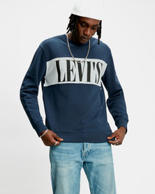 Logo Colorblock Crew Sweatshirt