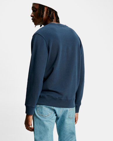 Logo Colorblock Crew Sweatshirt