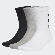 3-STRIPES HALF-CUSHIONED CREW SOCKS 3 PAIRS
