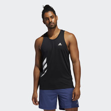 OWN THE RUN 3-STRIPES PB SINGLET