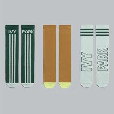 IVY PARK 3-PACK LOGO SOCKS
