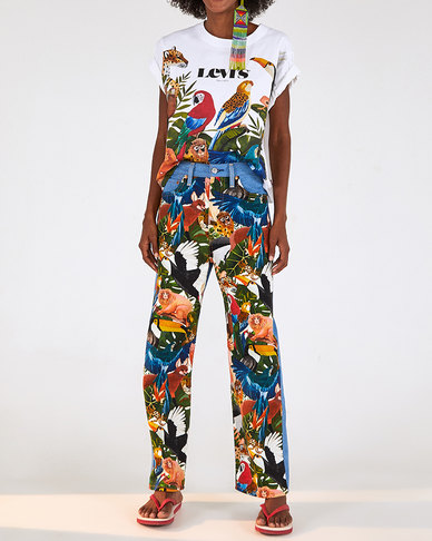 Levi's® x FARM Rio Ribcage Cropped Jeans