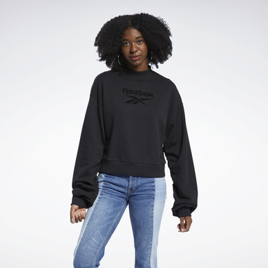 Mock Neck Crew Sweatshirt