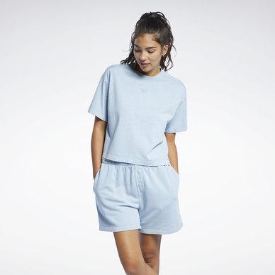 Natural Dye Cropped T-Shirt